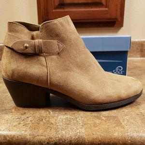 Brown Wedge Bootie - Mountain Sole